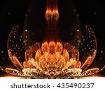 Orange Fractal Flower With...