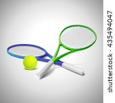 tennis racket photorealistic... | Shutterstock .eps vector #435494047