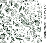 handdrawn biological image.... | Shutterstock .eps vector #435499177