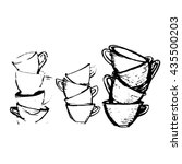 cup. drawing black and white...