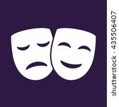 theater icon with happy and sad ... | Shutterstock .eps vector #435506407