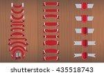 new vector set of red ribbon ... | Shutterstock .eps vector #435518743