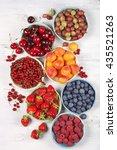 Various Fresh Fruits In Bowls...
