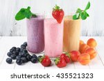 three various protein... | Shutterstock . vector #435521323