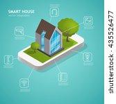 smart house vector concept ... | Shutterstock .eps vector #435526477
