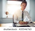business man executive writing... | Shutterstock . vector #435546763