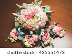 wonderful luxury wedding... | Shutterstock . vector #435551473