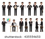 set of working people on white... | Shutterstock .eps vector #435554653