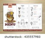 vintage coffee menu design.  | Shutterstock .eps vector #435557983