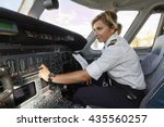 italy  female pilot in an...