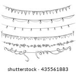 set of decorations. flags and... | Shutterstock . vector #435561883