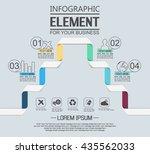 element for infographic ... | Shutterstock .eps vector #435562033