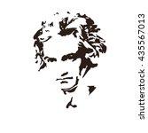 composer ludwig van beethoven.... | Shutterstock .eps vector #435567013