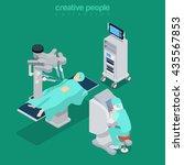 isometric medical hospital... | Shutterstock .eps vector #435567853
