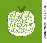 hand drawn vintage motivational ... | Shutterstock .eps vector #435570307