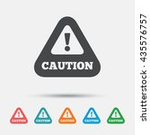 attention caution sign icon.... | Shutterstock .eps vector #435576757