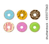 donut vector set isolated on a... | Shutterstock .eps vector #435577063