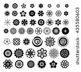 big set of flowers design... | Shutterstock .eps vector #435580603
