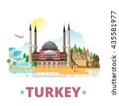 turkey country design template. ... | Shutterstock .eps vector #435581977