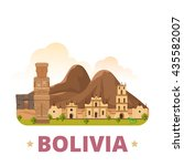 bolivia country design template.... | Shutterstock .eps vector #435582007