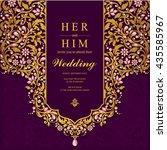 wedding card  invitation card ... | Shutterstock .eps vector #435585967