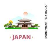japan country design template.... | Shutterstock .eps vector #435589027