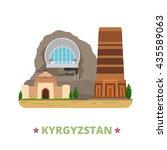 kyrgyzstan country design... | Shutterstock .eps vector #435589063
