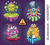cartoon virus set | Shutterstock .eps vector #435600907