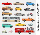 urban  city cars and vehicles... | Shutterstock . vector #435608227