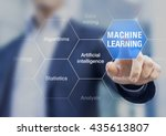 concept about machine learning... | Shutterstock . vector #435613807