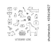 veterinary hand drawn icon set | Shutterstock .eps vector #435614827