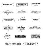 minimal modern logos | Shutterstock . vector #435615937