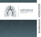 lungs symbol   vector... | Shutterstock .eps vector #435623203
