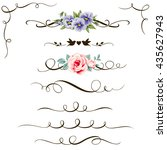 set of decorative calligraphic... | Shutterstock .eps vector #435627943