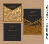 wedding invitation or greeting... | Shutterstock .eps vector #435629257
