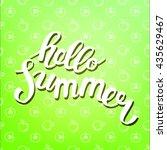 hello summer. poster on beach... | Shutterstock .eps vector #435629467