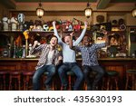 expression fans at a bar | Shutterstock . vector #435630193