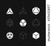 geometric solids set. vector...