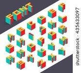 Isometric 3d type font set. Vector illustration | Shutterstock vector #435633097