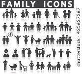 family icons set  | Shutterstock .eps vector #435637267