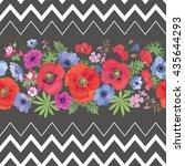 beautiful flower seamless... | Shutterstock .eps vector #435644293