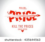 kill the prices vector design | Shutterstock .eps vector #435644563