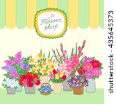 bouquets for sale at the flower ... | Shutterstock .eps vector #435645373