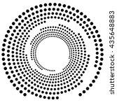 dotted circular element.... | Shutterstock .eps vector #435648883