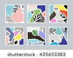 collection of trendy creative... | Shutterstock .eps vector #435653383