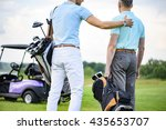 two partners of game standing... | Shutterstock . vector #435653707