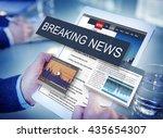 breaking news media... | Shutterstock . vector #435654307