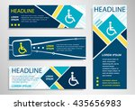 disabled handicap icon on... | Shutterstock .eps vector #435656983