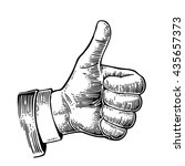 hand showing symbol like.... | Shutterstock . vector #435657373