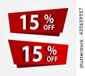 banner template sale promotion. ... | Shutterstock .eps vector #435659557